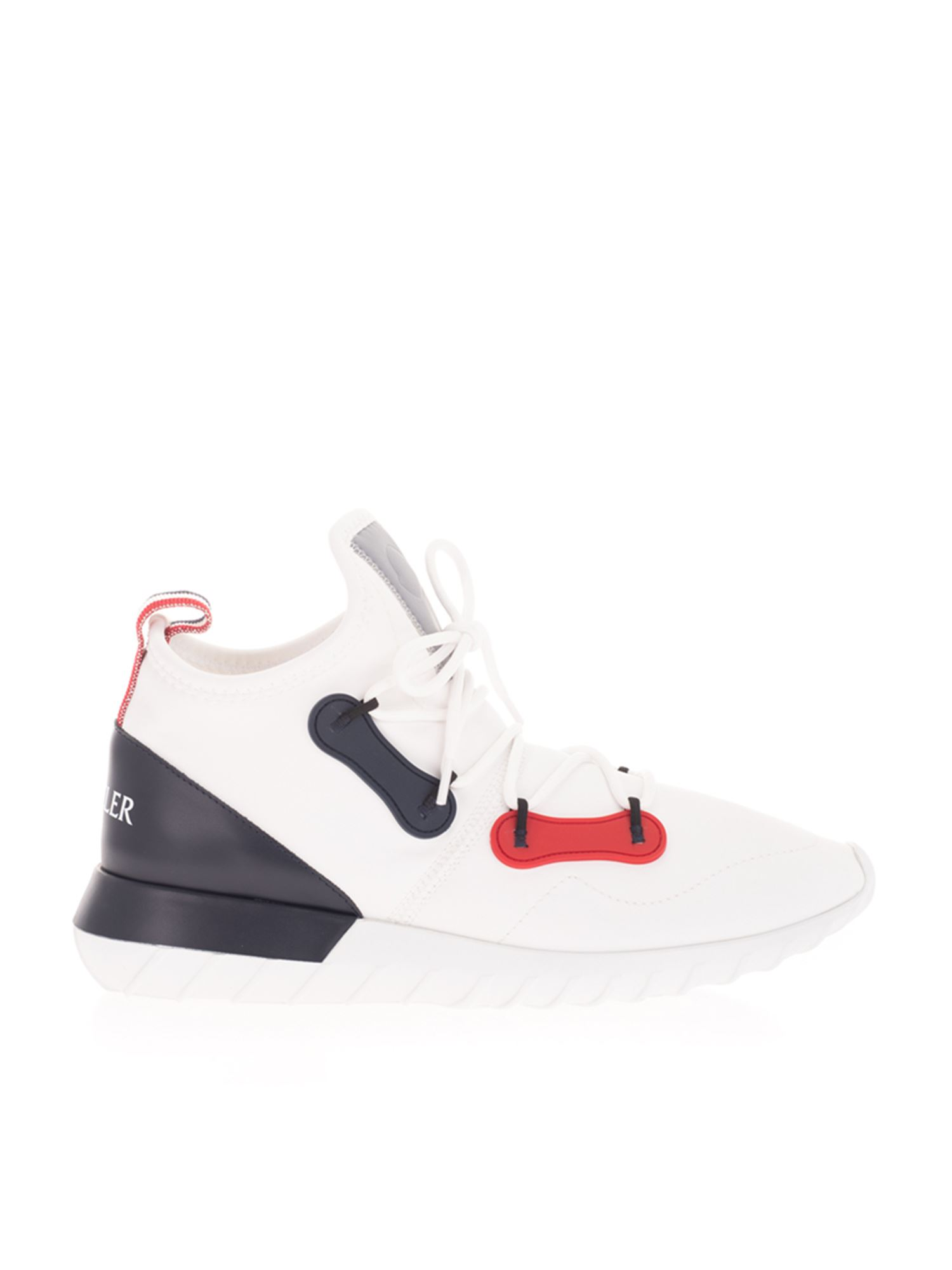 Moncler CONTRASTING PANELS SNEAKERS IN WHITE