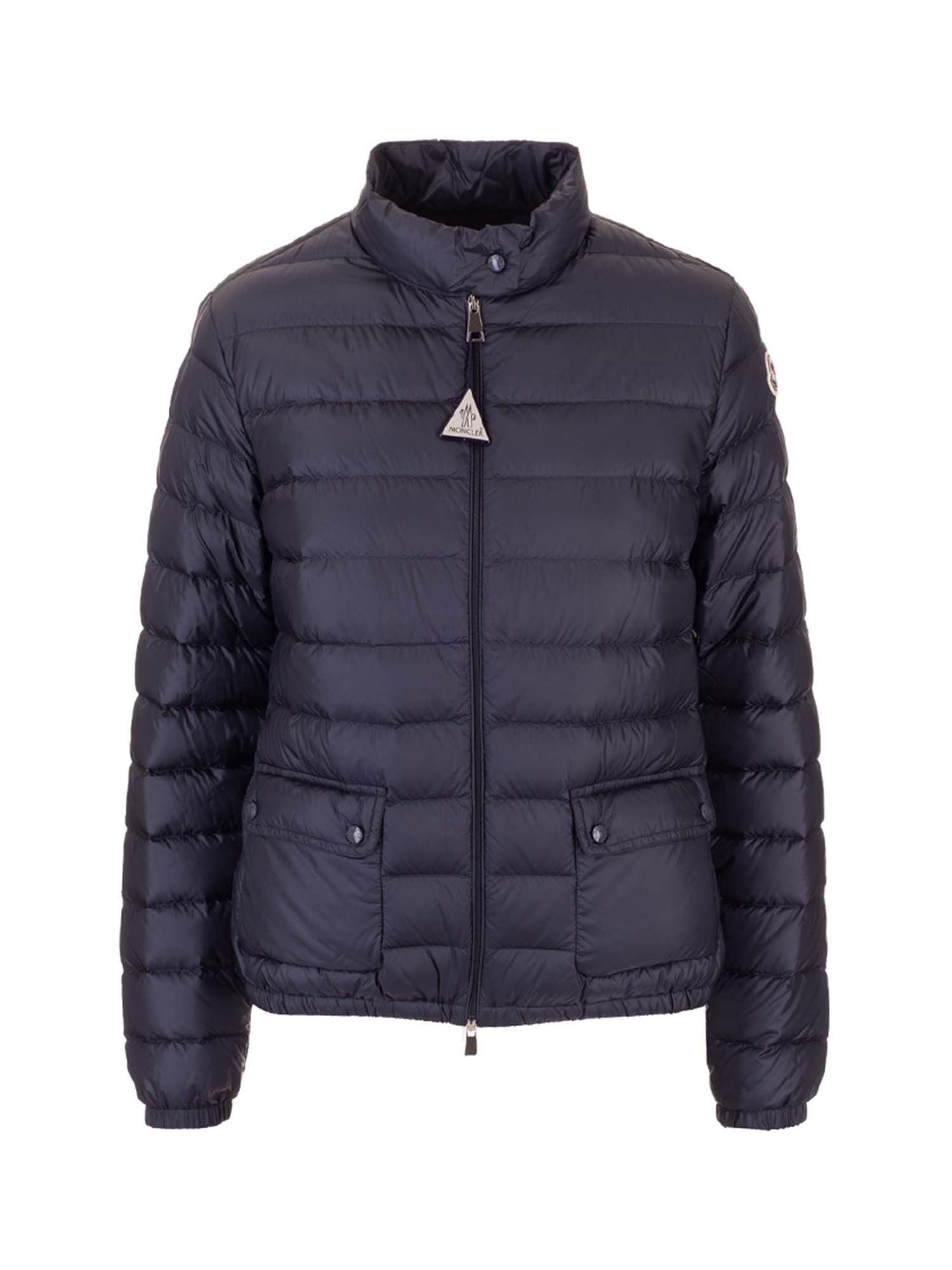 Moncler Downs HIGH NECK DOWN JACKET IN BLUE