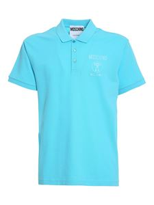 Moschino - Double Question Mark polo in light blue