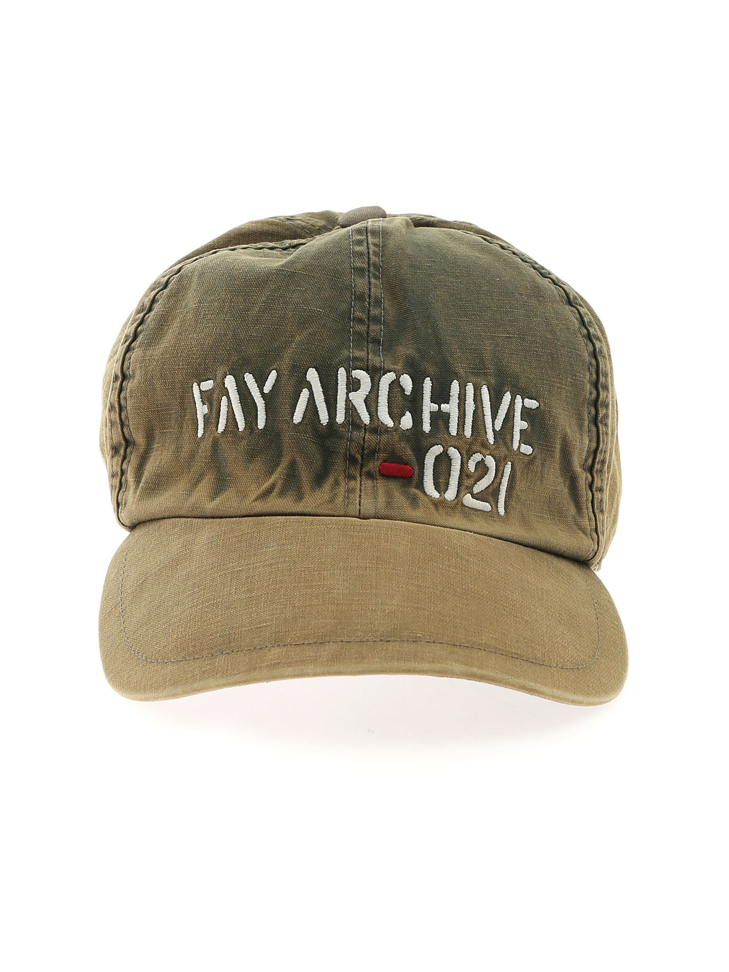 Fay LOGO EMBROIDERY CAP IN GREEN