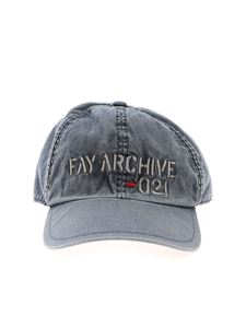 Fay - Logo embroidery cap in blue