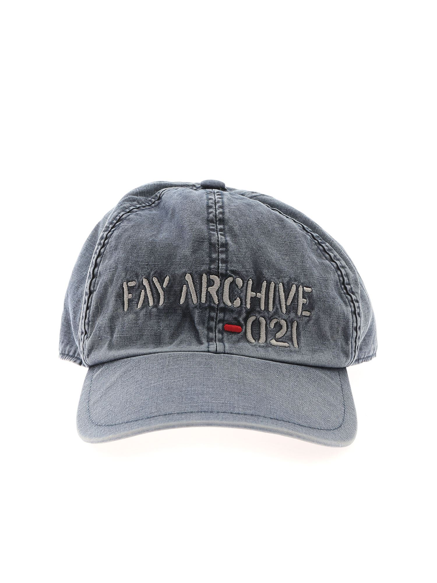 Fay Caps LOGO EMBROIDERY CAP IN BLUE
