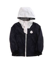 Moncler Jr - Varsos jacket in blue and grey