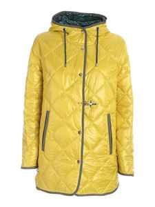Fay - Quilted parka in yellow
