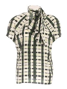 Ballantyne - Checked print shirt in green