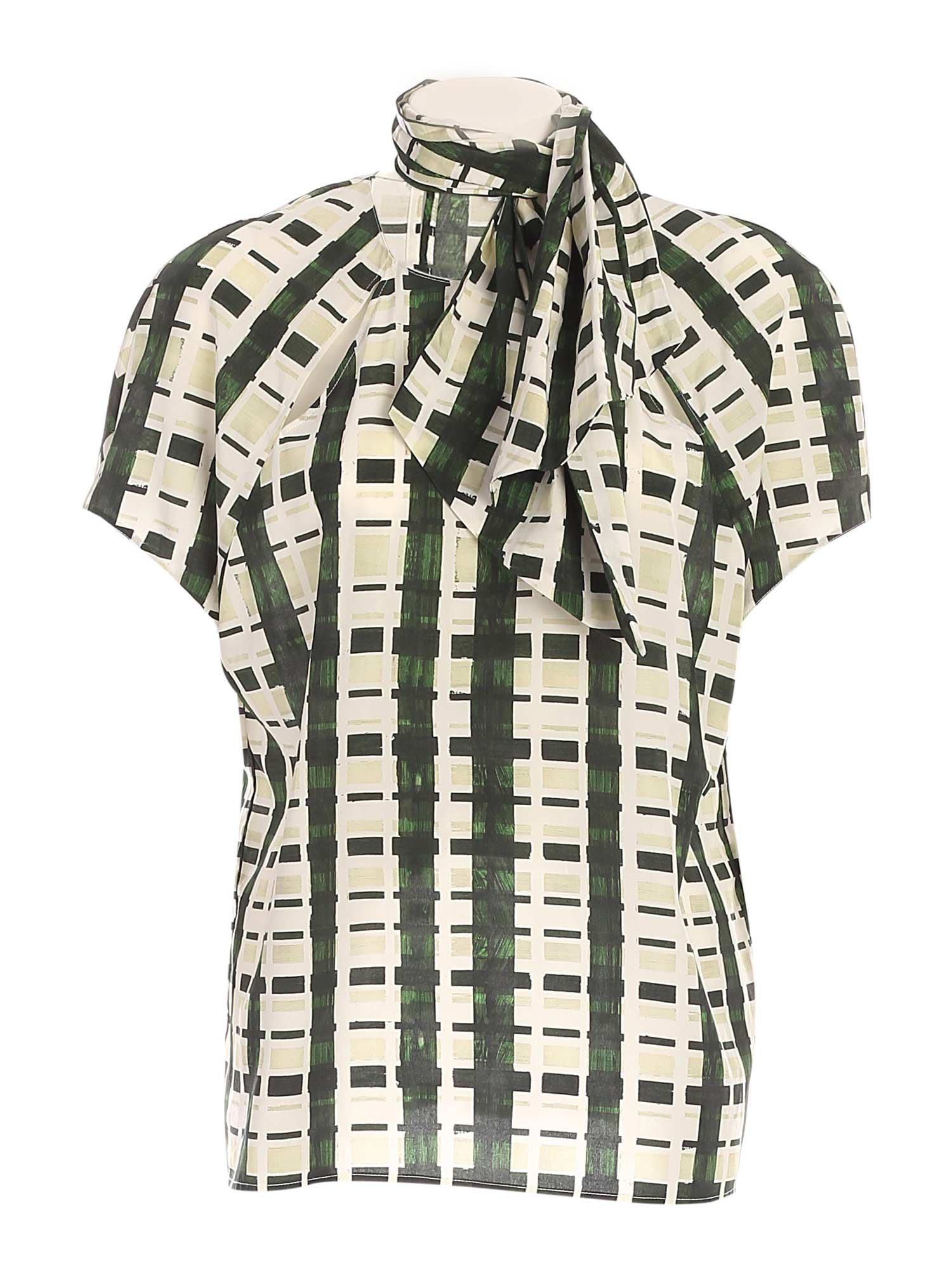 Ballantyne CHECKED PRINT SHIRT IN GREEN