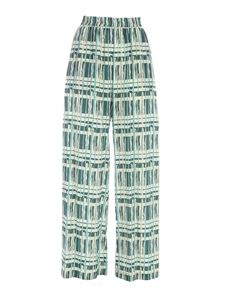 Ballantyne - Wide leg pants in green