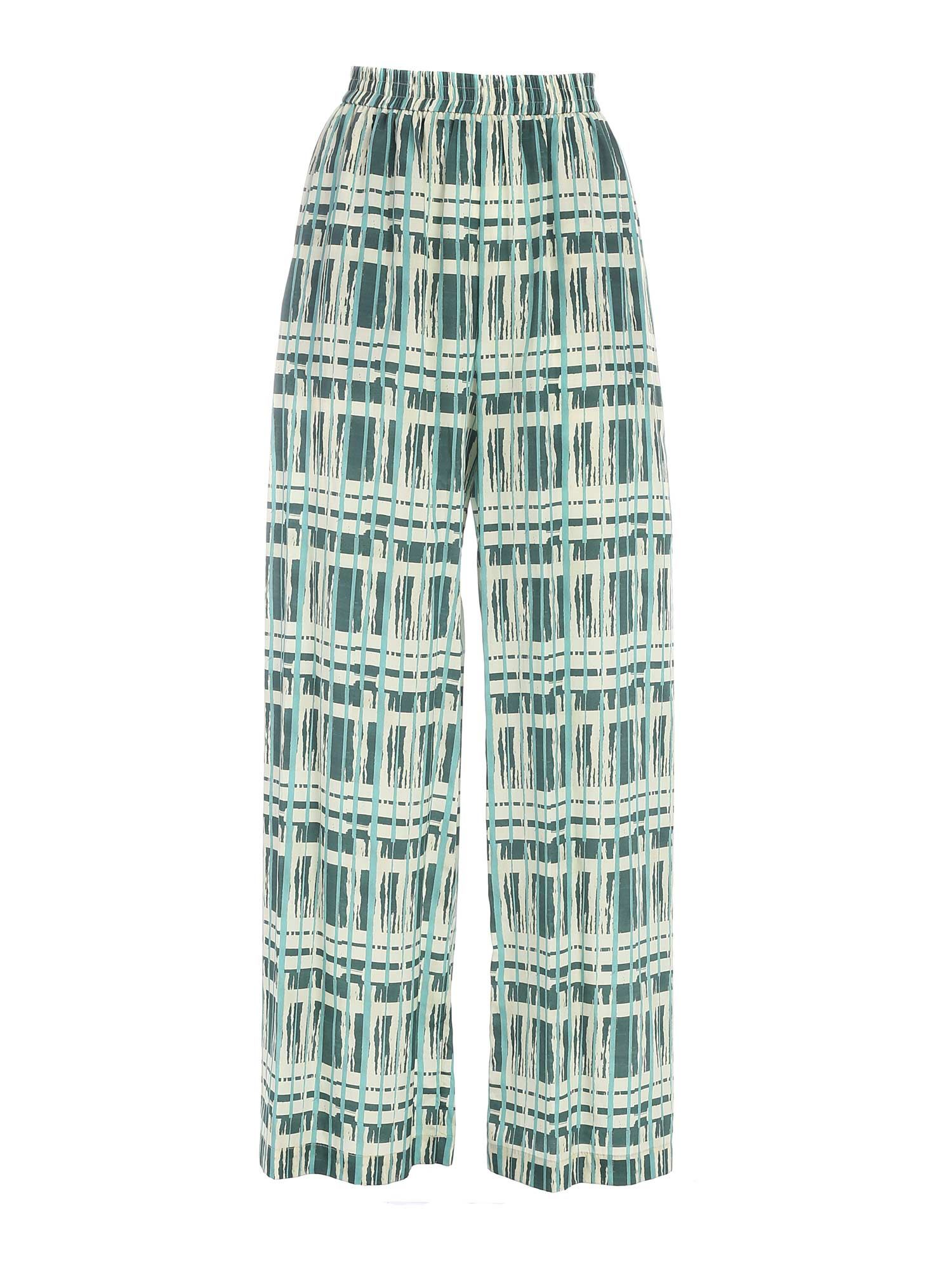 Ballantyne WIDE LEG PANTS IN GREEN