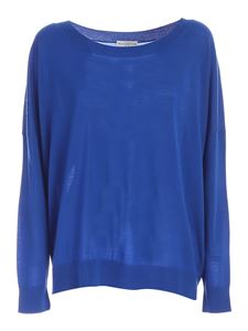 Ballantyne - Ribbed edges sweater in blue