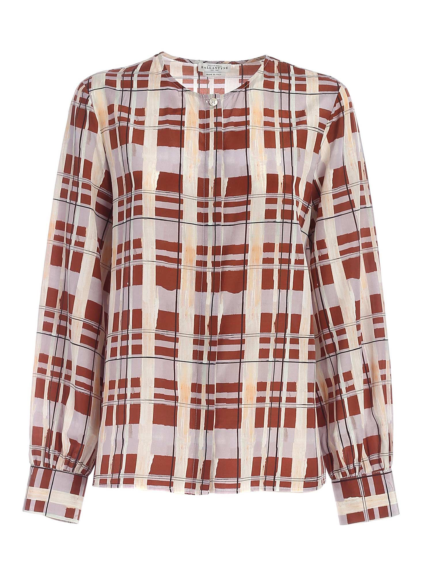Ballantyne CHECKED PRINT MULTICOLOR SHIRT