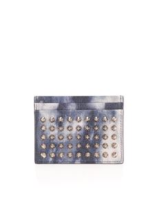 Christian Louboutin - Kios Spike card holder in blue