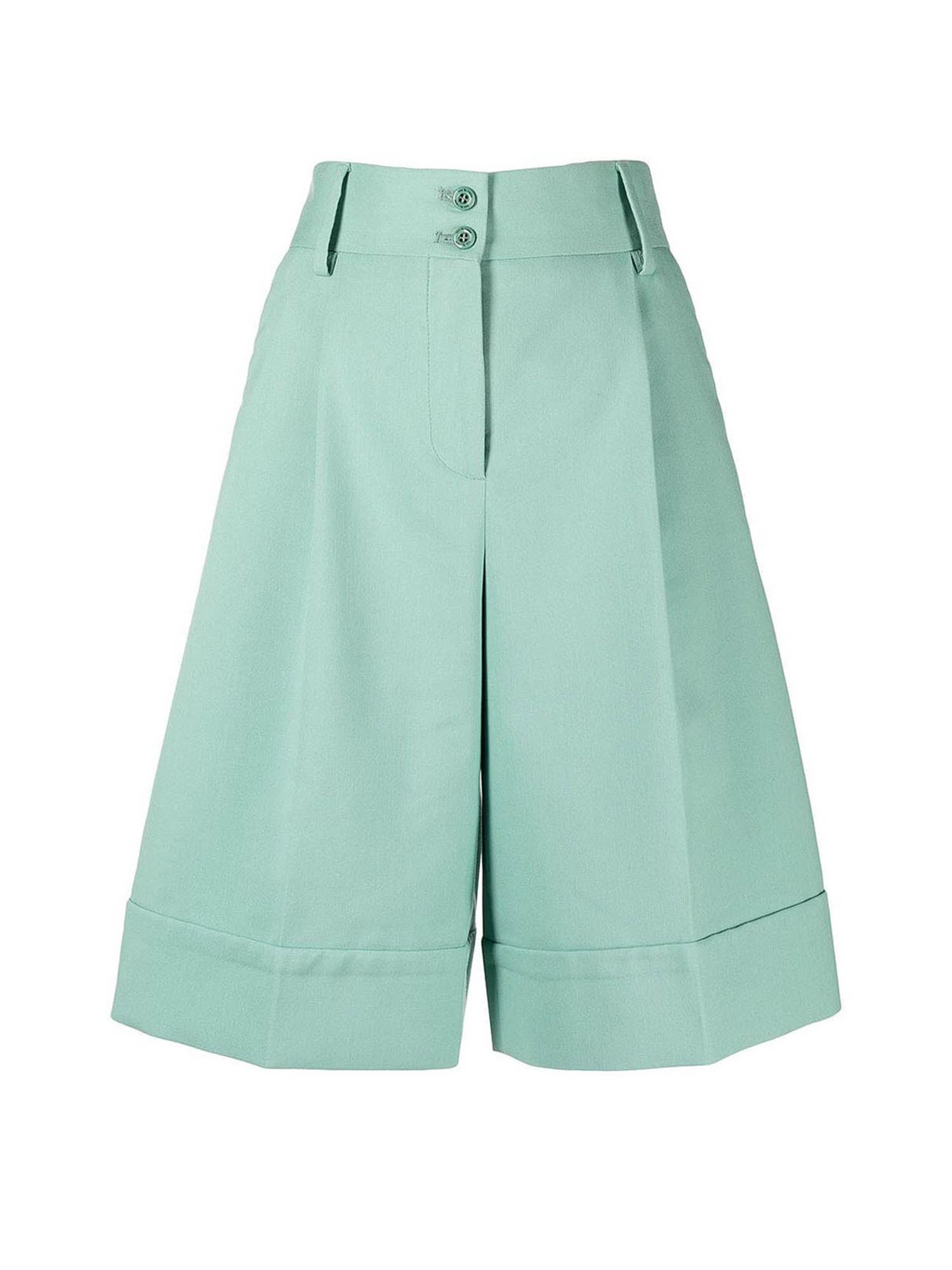 See By Chloé FLARED BERMUDA SHORTS IN BERYL GREEN