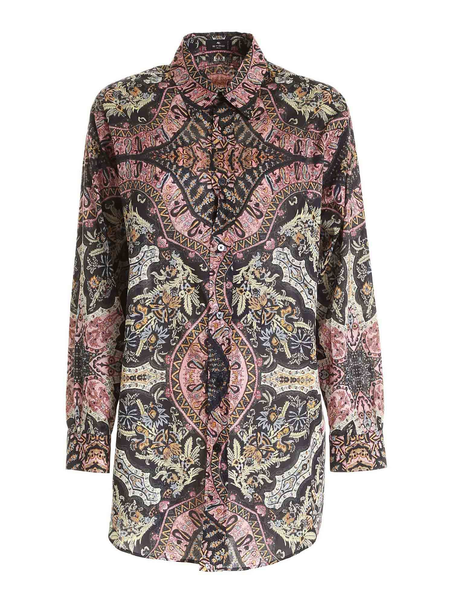 Etro PRINTED SHIRT IN BLACK