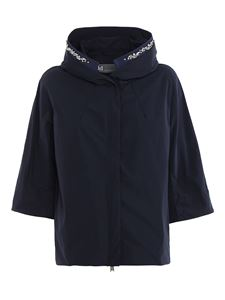 ADD - Waterproof jacket with rhinestones in blue