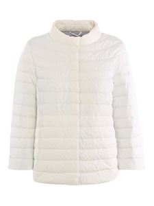 ADD - Lightweight quilted puffer jacket in white