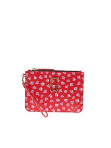 Marc Jacobs  - The Snapshot printed clutch bag in red