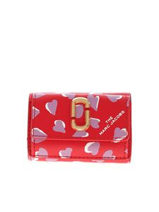 Marc Jacobs  - The Snapshot printed mini wallet in red