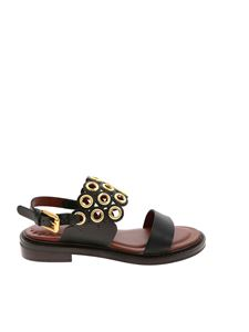See by Chloé - Eyelets sandals in black