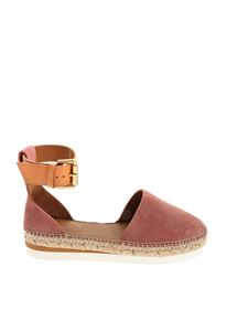 See by Chloé - Rope details suede sandals in pink