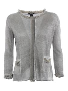 Avant Toi - Cropped stocking stitch linen cardigan in grey