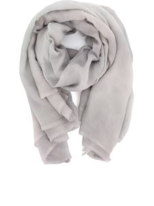 Avant Toi - Faded effect cashmere blend stole in grey