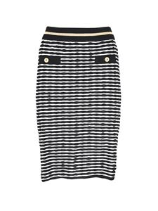 Moschino Boutique - Striped stretch skirt in white and black