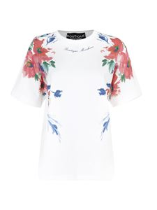 Moschino Boutique - Floral print T-shirt in white