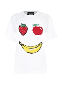 Moschino Boutique - Fruit smile print t-shirt in white
