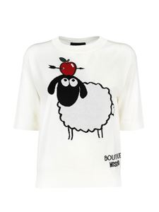 Moschino Boutique - Sheep embroidery sweater in white