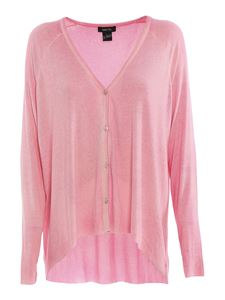 Avant Toi - Ribbed silk blend cardigan in pink