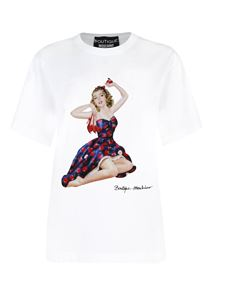 Moschino Boutique - Pin Up Apples print T-shirt in white