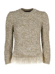 Moschino Boutique - Fringes sweater in beige