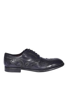 Dolce & Gabbana - Leather derby shoes in blue