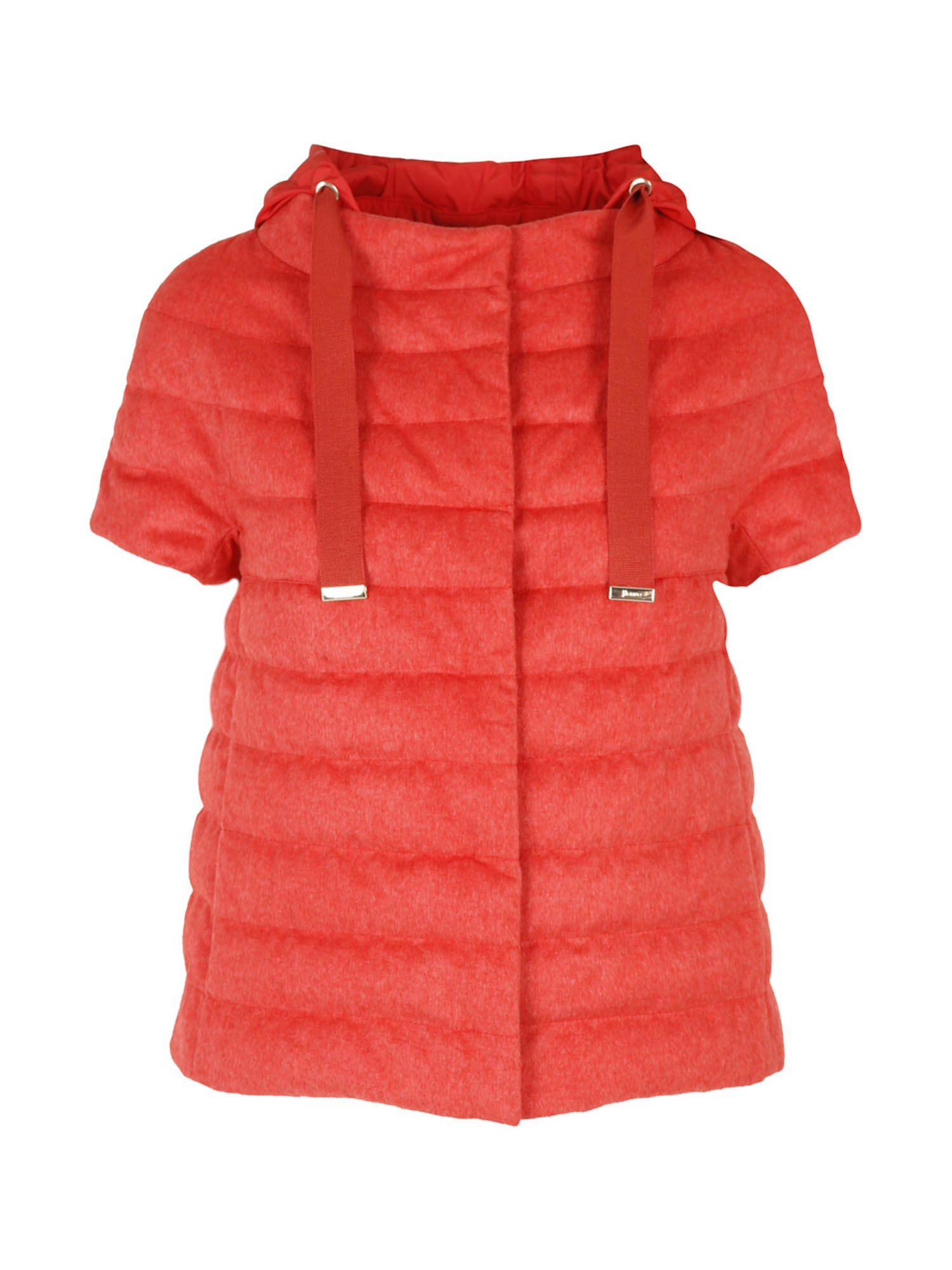 Herno SHORT SLEEVE DOWN JACKET IN RED