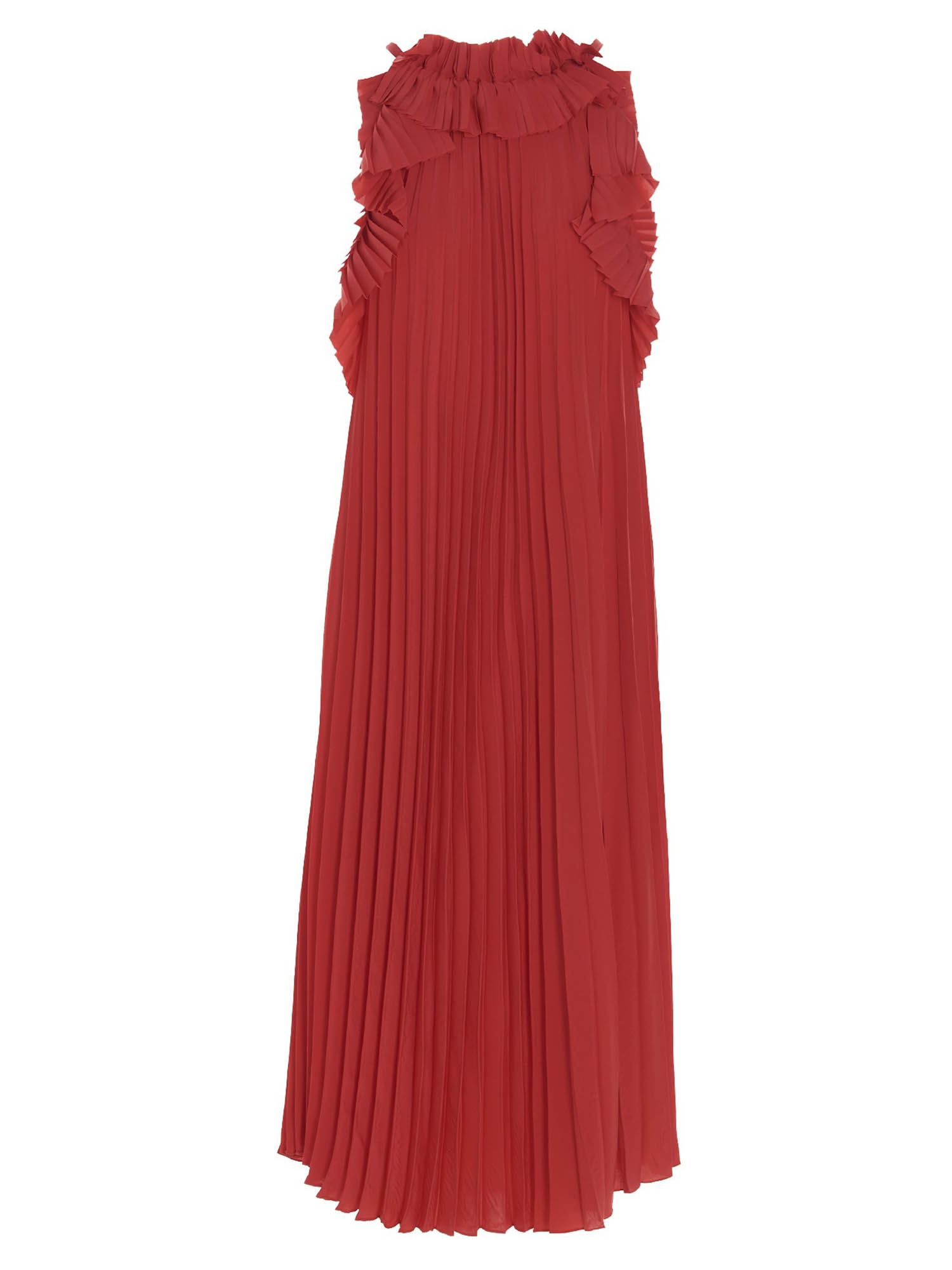 P.a.r.o.s.h. RUFFLED DRESS IN RED