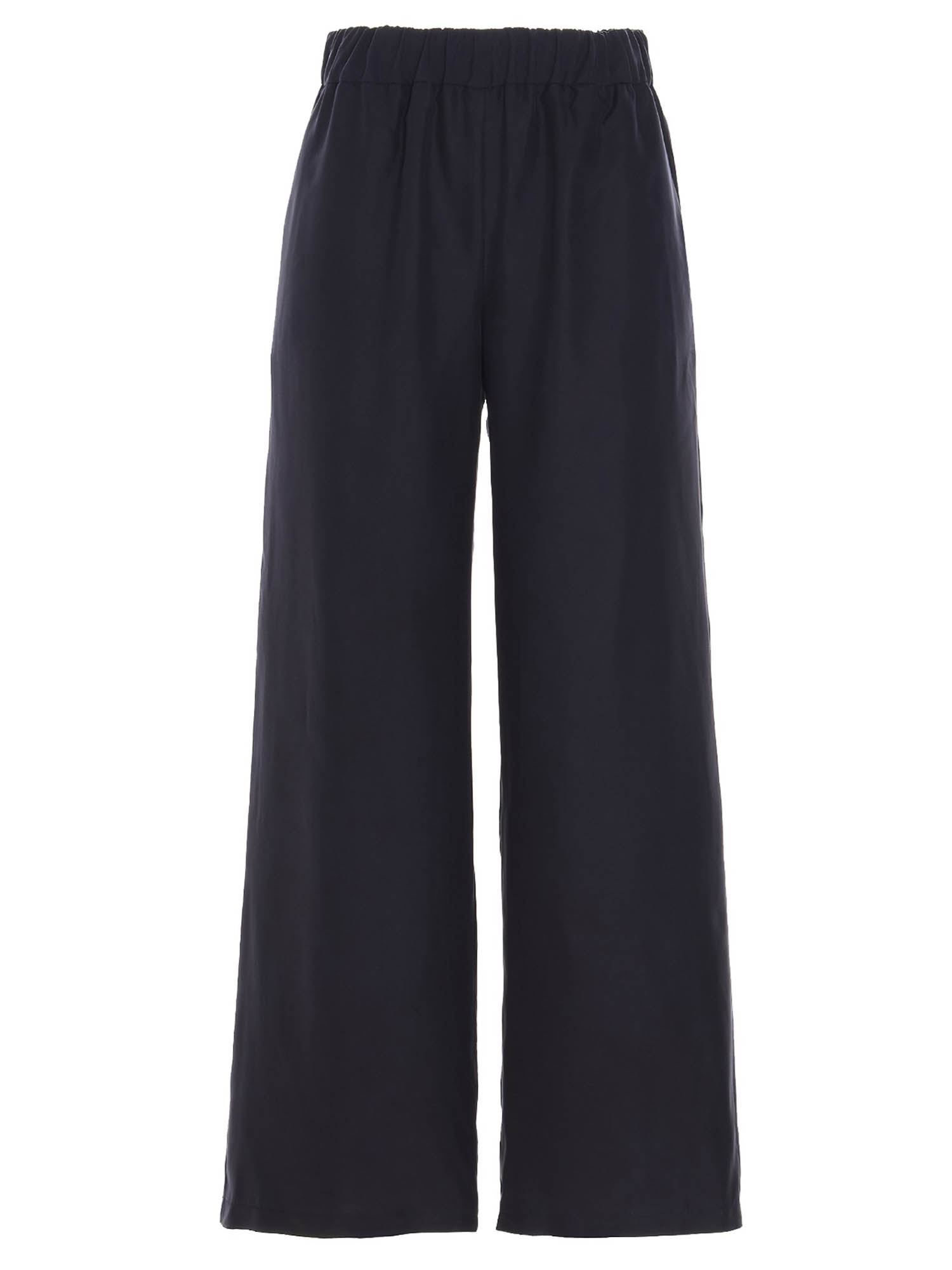P.a.r.o.s.h. SILK TROUSERS IN BLUE