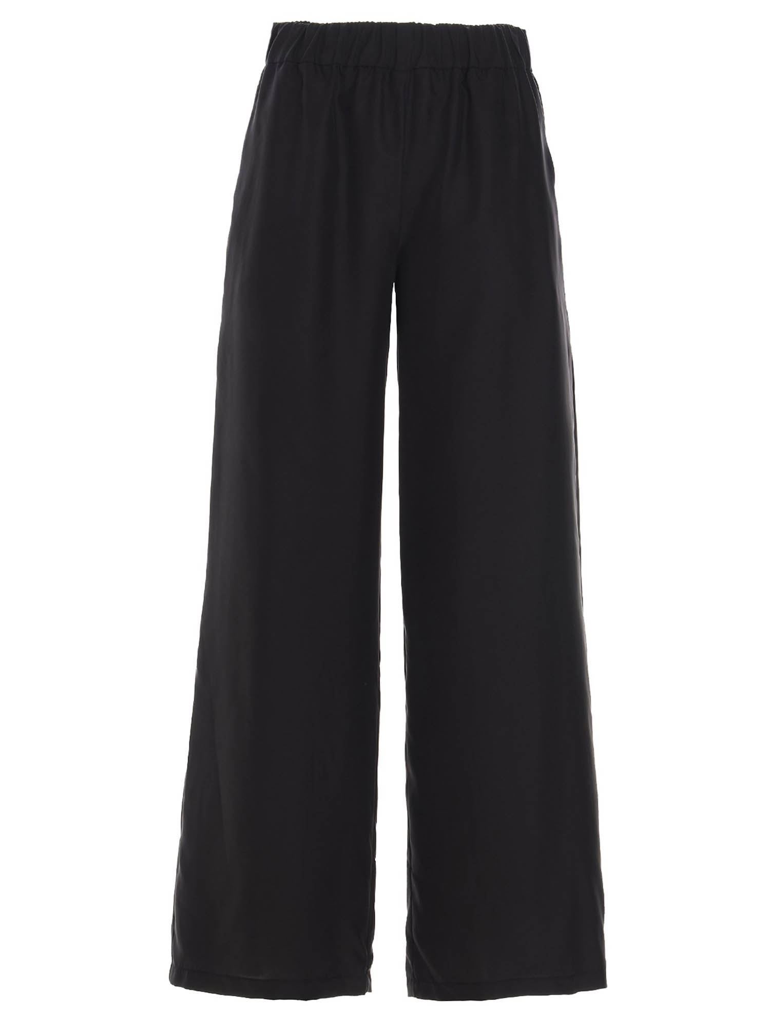 P.a.r.o.s.h. SILK TROUSERS IN BLACK
