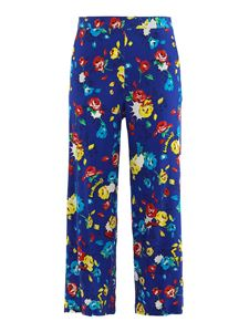Moschino - Pop Flowers pants in blue