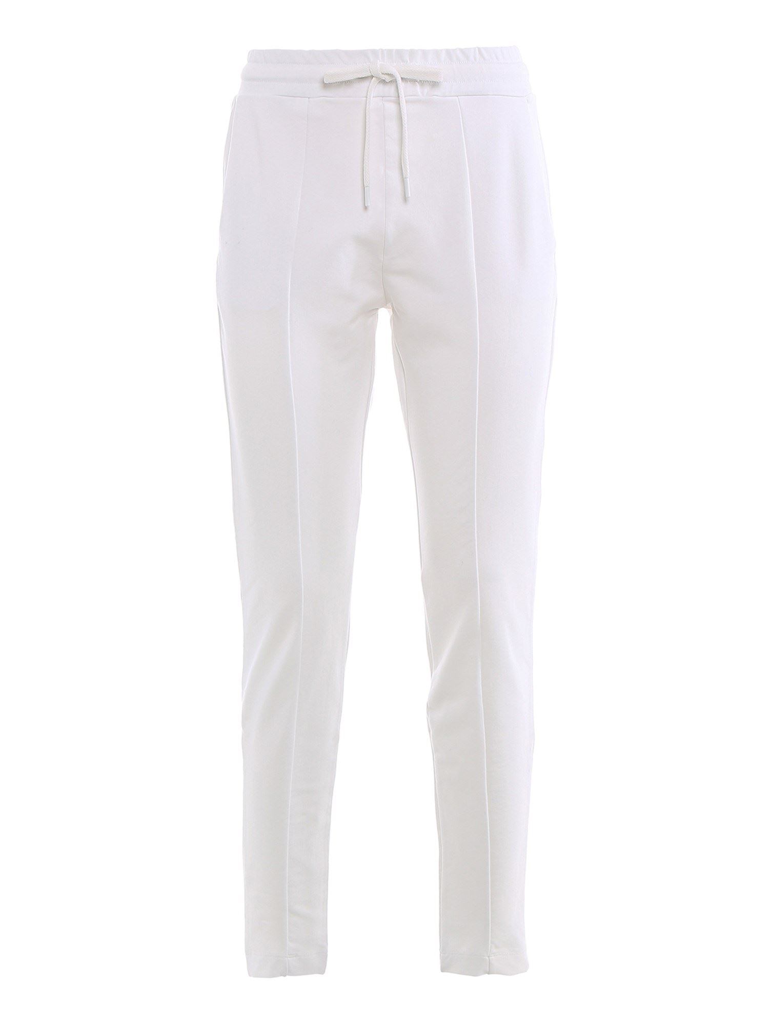 Moschino LOGO PRINT TRACKSUIT PANTS IN WHITE
