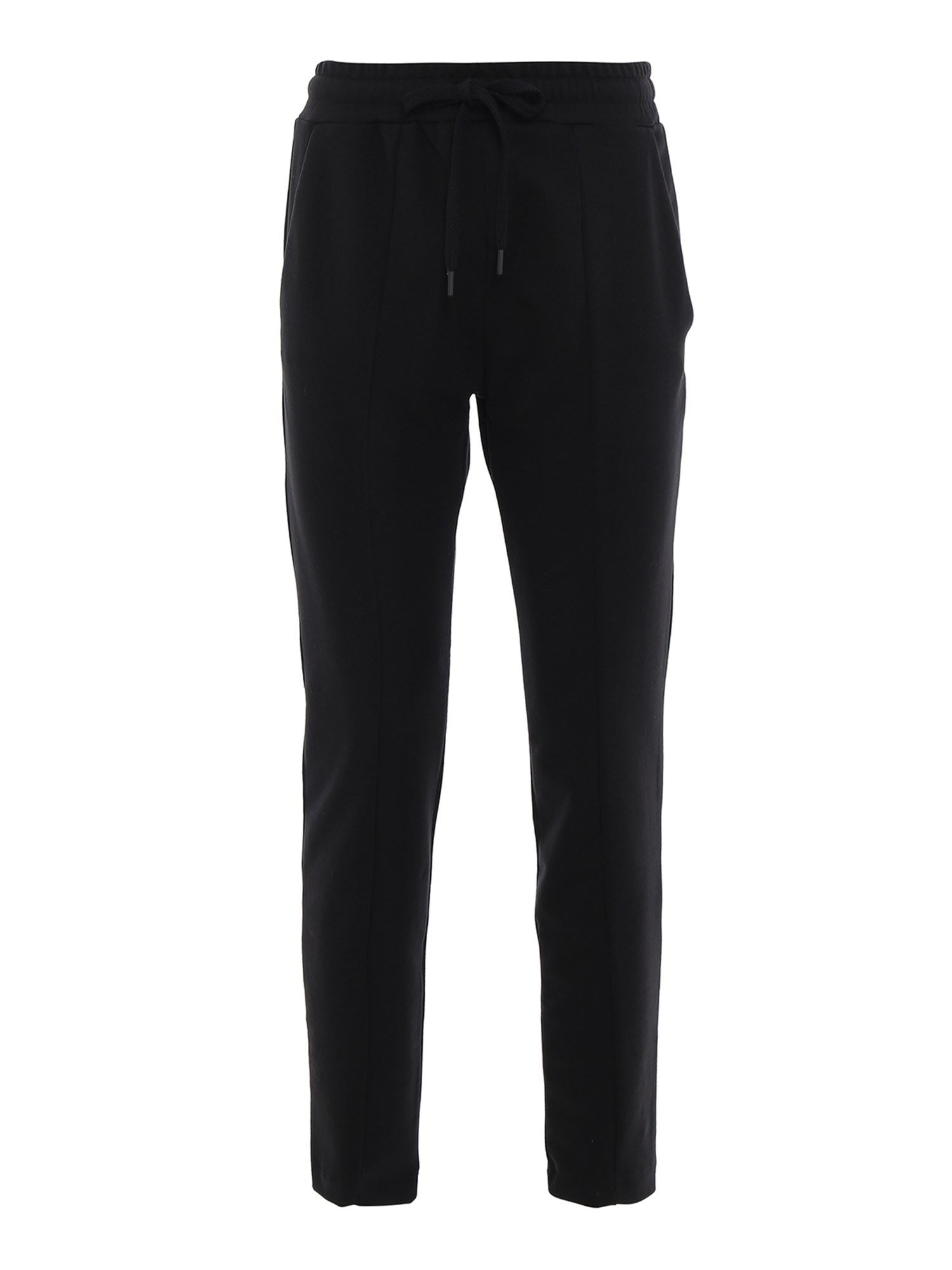 Moschino LOGO PRINT COTTON TRACKSUIT BOTTOMS IN BLACK