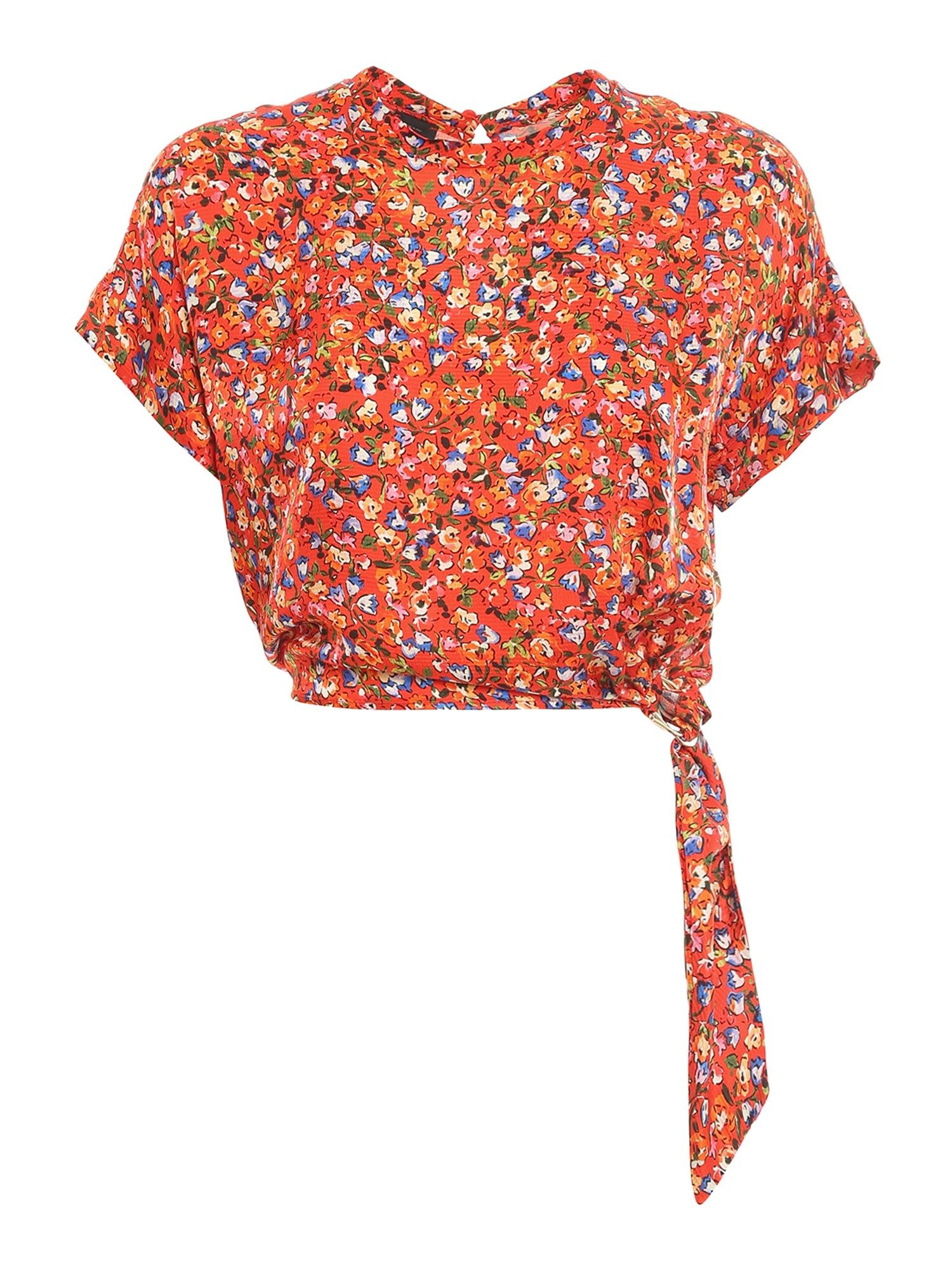 Pinko Blouses PINKO CANORO BLOUSE IN RED