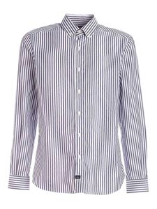 Fay - Striped shirt in white and blue