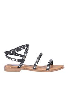 Steve Madden - Studded faux leather sandals in black