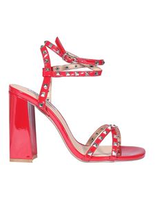Steve Madden - Studded faux leather sandals in red