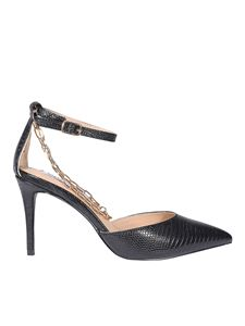 Steve Madden - Reptile-effect faux leather pumps in black
