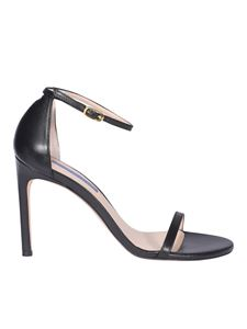 Stuart Weitzman - Siteltto heel leather sandals in black