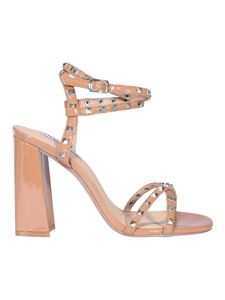 Steve Madden - Studded faux leather sandals in beige