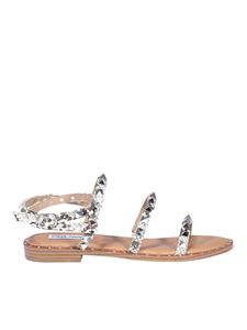 Steve Madden - Studded faux leather sandals in silver color