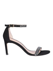 Stuart Weitzman - Jewel leather sandals in black