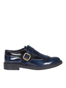 Tod's - Smooth leather monk straps in blue